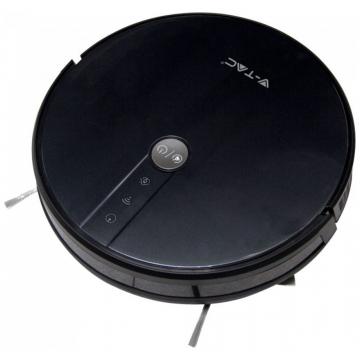 V-TAC Έξυπνη Σκούπα Ρομπότ Επαναφορτιζόμενη Συμβατή με Amazon Alexa και Google Home Χρώμα Μαύρο 8650 (8650)
