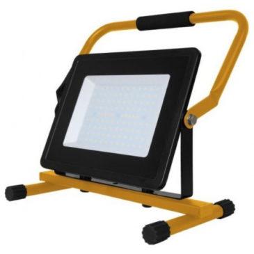 LED Προβολέας V-TAC 100W με Stand και Σούκο Πρίζα  SLIM SMD Φως Ημέρας 5931