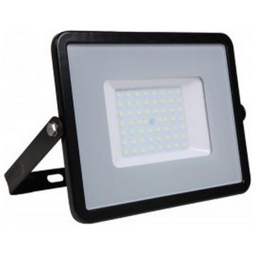 LED  Προβολέας V-TAC 50W Μαύρος Slim SMD SAMSUNG Chip Θερμό Λευκό 5 Χρόνια Εγγύηση 406