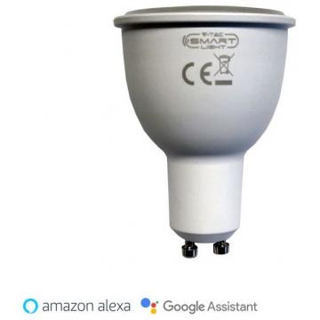 LED V-TAC Έξυπνο Σποτ GU10 4.5W 360Lm με εναλλαγή χρωματισμού 3 σε 1 Dimmable Συμβατό με Amazon Alexa και Google Home 8436 (8436)