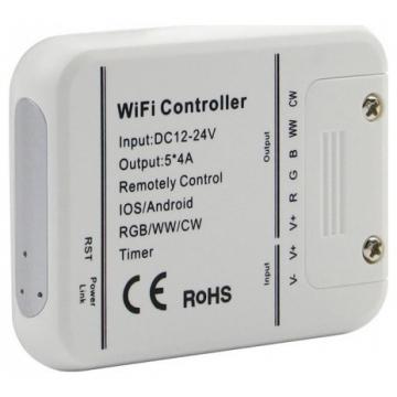 V-TAC Έξυπνο WIFI Controler Λευκό για ταινίες LED Συμβατό με Amazon Alexa και Google Home (8426)