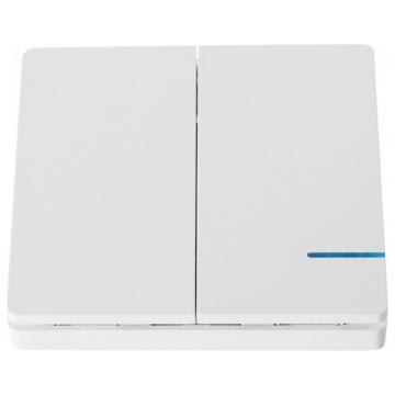 V-TAC Έξυπνος Ασύρματος Διπλός Διακόπτης Wireless Λευκός με Μπαταρία 8461 (8461)
