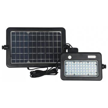 V-TAC LED Ηλιακός Προβολέας 10W Μαύρος με Ανιχνευτή κίνησης και Διακόπτη με Διάφορες Λειτουργίες Φως Ημέρας 8674
