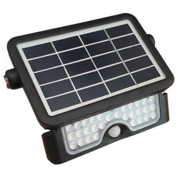 V-TAC LED Ηλιακός Προβολέας 5W Μαύρος με Ανιχνευτή κίνησης Φως Ημέρας 8547