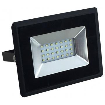 V-TAC LED Προβολέας E-Series SMD Μαύρος 20W Χρώμα Φωτός Μπλε 5993