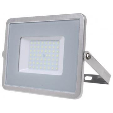 V-TAC LED Προβολέας SAMSUNG CHIP SMD 50W Σώμα Γκρι Θερμό Λευκό  Α++ 5 Χρονια Εγγύηση 463
