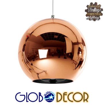 Μοντέρνο Κρεμαστό Φωτιστικό Οροφής Μονόφωτο Γυάλινο Χάλκινο Νίκελ Φ30 GloboStar INFINITA 01310