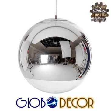 Μοντέρνο Κρεμαστό Φωτιστικό Οροφής Μονόφωτο Γυάλινο Νίκελ Φ30 GloboStar GLANS 01312