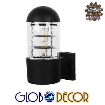 Μοντέρνο Φωτιστικό Τοίχου Απλίκα Μονόφωτο Μαύρο Μεταλλικό GloboStar FEREA 01419