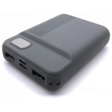 Φορτιστής Μπαταριά Power Bank 10000mAh με οθόνη και δύο Θύρες USB Χρώμα Γκρι