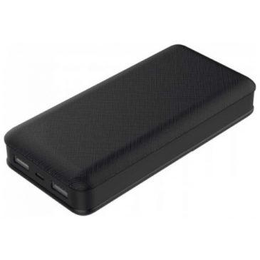 Φορτιστής Μπαταρία Power Bank 20000mAh με  δύο Θύρες USB Χρώμα Μαύρο 8190