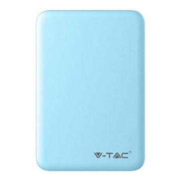 Φορτιστής Μπαταριά Power Bank 5000mAh με δύο Θύρες USB Χρώμα Γαλάζιο 8195