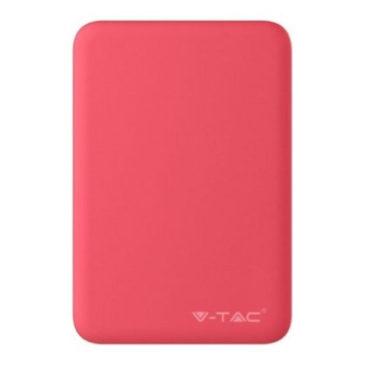 Φορτιστής Μπαταριά Power Bank 5000mAh με δύο Θύρες USB Χρώμα Κόκκινο 8192