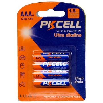 MΠΑΤΑΡΙΑ ULTRA ALKALINE PKCELL AAΑ/R03 AAA-LR03 4 ΤΕΜ(T-29921)