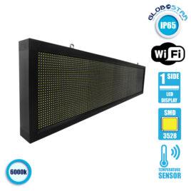 Αδιάβροχη Κυλιόμενη Επιγραφή SMD LED 230V USB & WiFi Λευκή Μονής Όψης 168x40cm GloboStar 90121