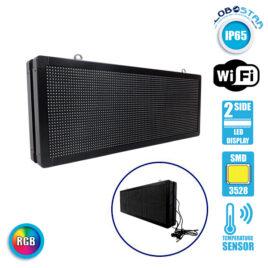 Αδιάβροχη Κυλιόμενη Επιγραφή SMD LED 230V USB & WiFi RGB Διπλής Όψης 104x40cm GloboStar 90128