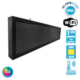 Αδιάβροχη Κυλιόμενη Επιγραφή SMD LED 230V USB & WiFi RGB Μονής Όψης 168x40cm GloboStar 90129