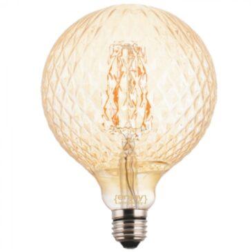 LED FILLAMENT VintageGlass G125*175 5.5W E27 2200k 550lm (EL822004)