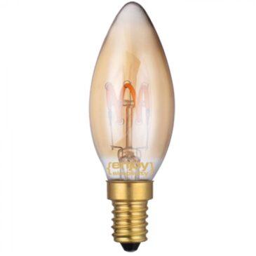 LED FILLAMENT DIM Amber Glass B35 3W E14 2200k 150lm (EL822102)