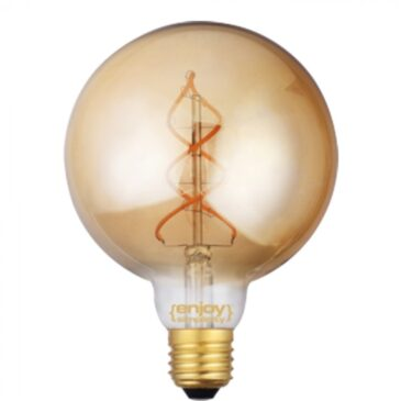 LED FILLAMENT DIM Amber Glass G125 5W E27 2200k 250lm (EL822106)