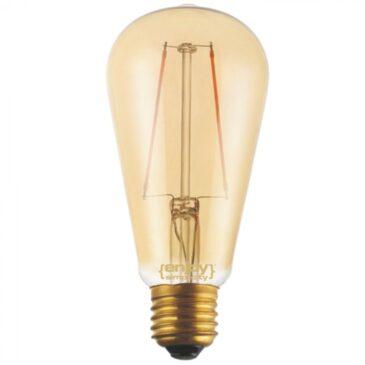 LED FILLAMENT DIM Amber Glass ST64-2 2.5W E27 2200k 200lm (EL822109)