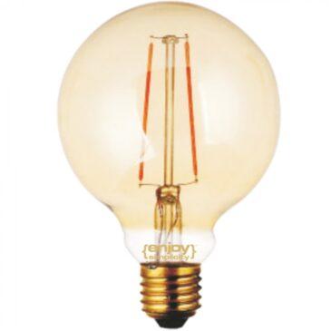 LED FILLAMENT DIM Amber Glass G95-2 2.5W E27 2200k 200lm (EL822110)