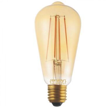 LED FILLAMENT DIM Amber Glass ST64-4 4W E27 2200k 380lm (EL822112)