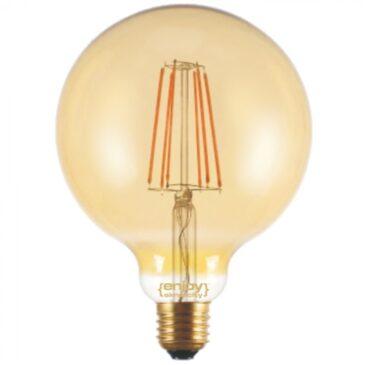 LED FILLAMENT DIM Amber Glass G125-4 4W E27 2200k 380lm (EL822114)