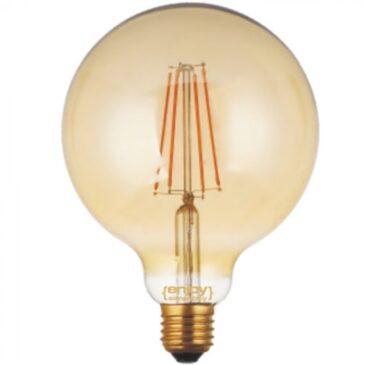 LED FILLAMENT DIM Amber Glass G125-6 6W E27 2200k 550lm (EL822117)