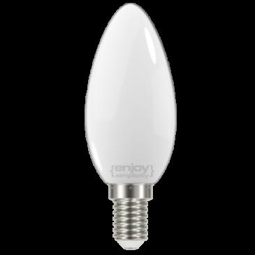 LED FILLAMENT MILKY B35 4W E14 6500k 450lm (EL824356)