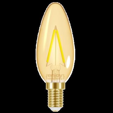 LED FILLAMENT AMBER B35 2.3W E14 <2200k 180lm (EL825603)