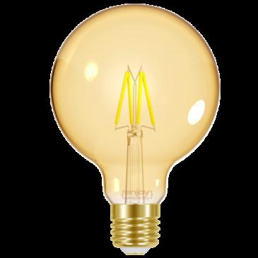 LED FILLAMENT AMBER G125 4W E27 <2200k 320lm (EL825605)