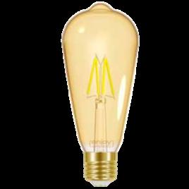 LED FILLAMENT AMBER ST64 4W E27 <2200k 320lm (EL825641)