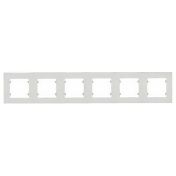 Εξαπλό Πλαίσιο Οριζόντιο για Διακόπτη/ Πριζα Λευκό (32001706)