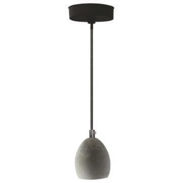 Φωτιστικό Ντουί Ε27 Μπετό Στρογγυλό με 1,5m καλώδιο Λευκό-Μαύρο 327104 (EL327104)