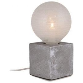 Επιτραπέζιο φωτιστικό Βάση Μπετού Γκρι με 1,8m Καλώδιο με Φις διπολικό 327107 (EL327107)