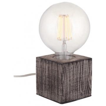 Επιτραπέζιο φωτιστικό Βάση Μπετού Καφέ (απομίμηση ξύλου) με 1,8m Καλώδιο με Φις διπολικό 327108 (EL327108)