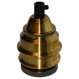 Ντουί Vintage Μεταλλικό Ε27 με Ροδέλα Αλουμίνιο-Πλαστικό Χρυσό Πατίνα Αντικέ Ριγιέ 327547 (EL327547)
