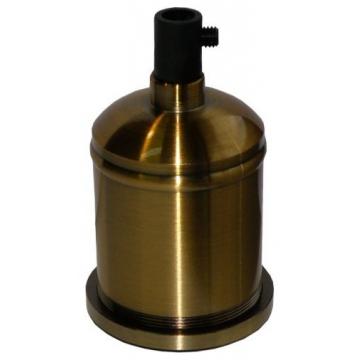 Ντουί Vintage Μεταλλικό Ε27 με Ροδέλα Αλουμίνιο-Πλαστικό Χρυσό Πατίνα Αντικέ 327647 (EL327647)