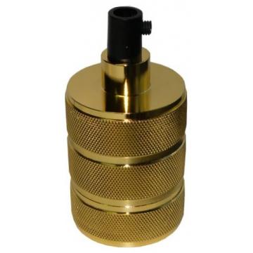 Ντουί Vintage Μεταλλικό Ε27 Αλουμίνιο-Πλαστικό Χρυσό 327817 (EL327817)