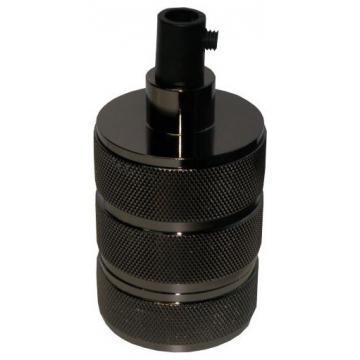 Ντουί Vintage Μεταλλικό Ε27 Αλουμίνιο-Πλαστικό Μαύρο Γυαλιστερό 327852 (EL327852)