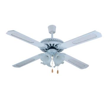 Telco Ανεμιστήρας οροφής με 4 Φτερά και 4 Φώτα σε Χρώμα Λευκό (L-180003)