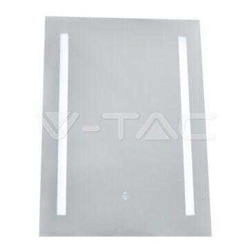 V- TAC LED Καθρέφτης Αντιθαμβωτικός Tετράγωνος με Φωτιστικό 10W Αλλαγή Απόχρωσης 3 σε 1 με διακόπτη αφής (40461)