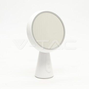 V-TAC Επιτραπέζιο φωτιστικό Καθρέπτης LED 5W Λευκό Dimmable Θερμό Λευκό 8670 (8670)
