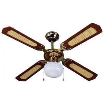 Ανεμιστήρας Οροφής V-TAC 50W με 4 πτερύγια μαζί με Φωτιστικό με Ντουί Ε27 Ρυθμιζόμενος 7914 (7914)