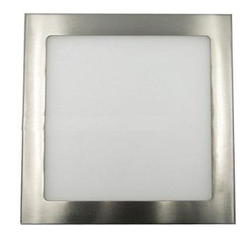 LED Panel Τετράγωνο Χωνευτό 20w Νίκελ Ματ Ψυχρό Λευκό(AT-00180)