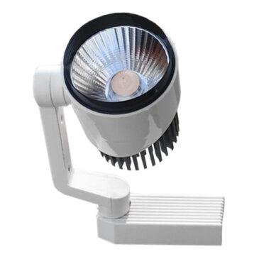 Μονοφασικό Bridgelux COB LED Φωτιστικό Σποτ Ράγας 10W 230V 1500lm 24° Θερμό Λευκό 3000k GloboStar 93012