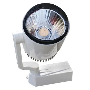 Μονοφασικό Bridgelux COB LED Φωτιστικό Σποτ Ράγας 20W 230V 3000lm 24° Θερμό Λευκό 3000k GloboStar 93015