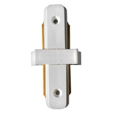 Μονοφασικός Connector 2 Καλωδίων Συνδεσμολογίας Γιώτα (Ι) για Λευκή Ράγα Οροφής GloboStar 93022