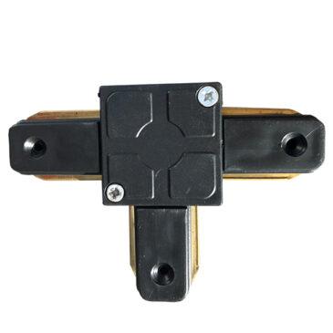 Μονοφασικός Connector 2 Καλωδίων Συνδεσμολογίας Ταφ (Τ) για Μαύρη Ράγα Οροφής GloboStar 93025